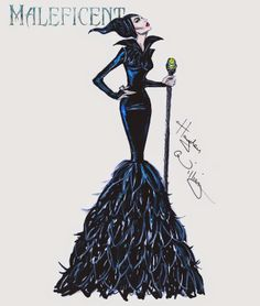 Hayden Williams Fashion Illustrations: Maleficent collection by Hayden Williams: 'Mistress of All Evil'