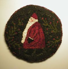 PrimiTive FolKart Santa and Berries HooKed Rug by Rue23Paris, $149.00