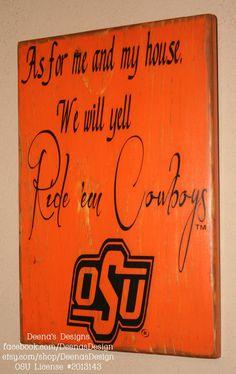 Ride em Cowboys   Oklahoma State University sign by DeenasDesign, $36.00 - https://www.facebook.com/DeenasDesign