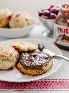 Cherry Nutella Scones
