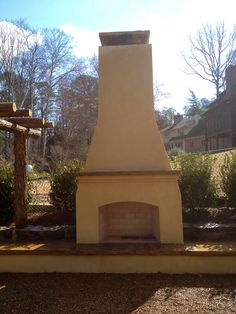 Build your own outdoor fireplace on Pinterest