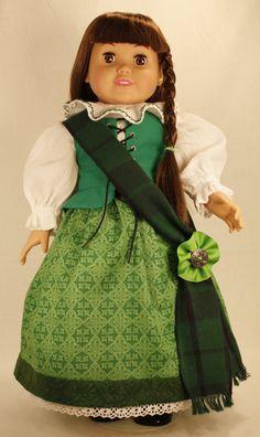 18 Inch Doll Clothes  - Celtic Pride Ensemble.