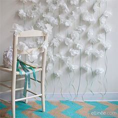 Easy to make diy paper napkin flower garland for wedding or party decor. Learn how to make with our step-by-step tutorial.