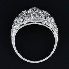 1.03 Carat Diamond Platinum Antique Ring - 10-1-3935 - Lang Antiques