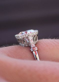 Single Stone Vintage-Inspired Engagement Ring