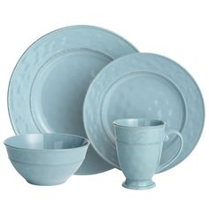 Pier One Martillo Dinnerware - Blue Corn
