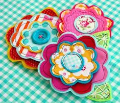 flower brooches.