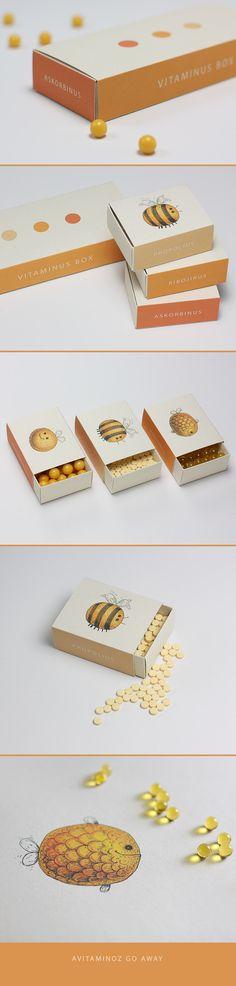 Vitaminus Box, Упаковка © SergTropov so cute vitamin #packaging PD