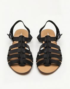 Gladiator Sandal In Black