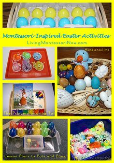 Roundup of Montessori-Inspired Easter activities holiday, classroom, montessori crafts, montessoriinspir easter, montessori preschool, homeschool, easter eggs, montessoriinspir activ, easter activ