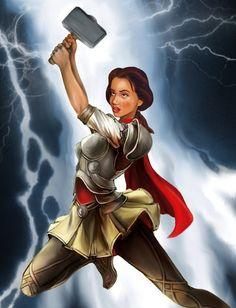 Belle as Thor.