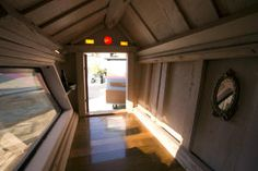 The interior of one of the makeshift homeless shelters that Gregory Kloehn of Oakland, has built out of garbage dumped in his West Oakland neighborhood.