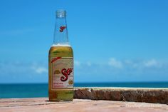 Cerveza Sol, enjoyed on our private deck in Tulum, Mexico, overlooking the Caribbean