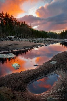 Sandy River Sunset, Oregon