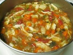 Easy Crock Pot Chicken Soup with Roasted Veggies
