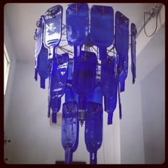 #Cerulean collapsed #glass #chandelier. #Tunis #creative #ideas #inspiration #artisan #innovative