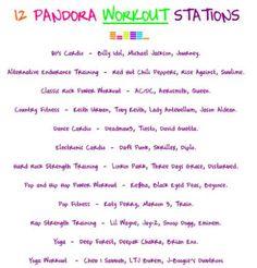 Pandora Workout Stations