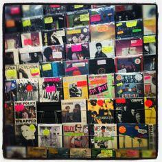 vinyl store. new york city.