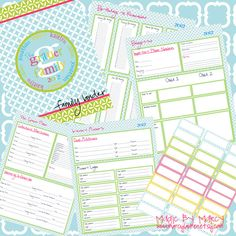 Organizational Family Binder Printables. $15.00, via Etsy....could be used as a guide to DIY!