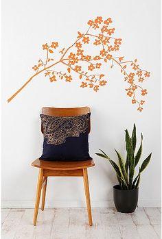 wall art, dream bedroom, coastlin, bedroom walls, wall decals, blossom wall, artsi thing, apart idea, blossoms