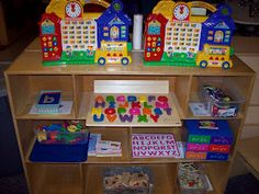 Alphabet Center in a preschool classroom.