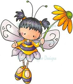 draw, stamp, clipart idea, fairies, bee, clipart inspir, dibujo, angels, sydney