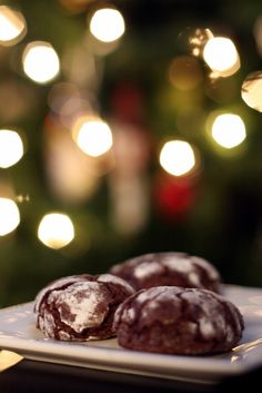 Just Another Manic Momday: Chocolate Peppermint Crinkle Cookies