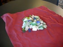 """""""Sea glass from the beach in Cayucos: I found this sea glass on the beach in Cayucos, Ca. in 2 hours. I love it here."""""""