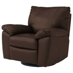 VRETA Swivel/reclining/armchair - Mjuk dark brown - IKEA