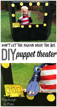 Awesome! Make an easy, DIY cardboard puppet theater for kids.