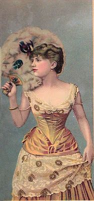 Victorian Lady with Feather Fan