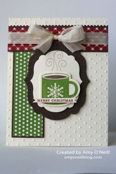 """Christmas cocoa **** SU """"Scentsational Season"""" stamp image & """"Holiday Collection"""" Framelits Dies, 2012 Holiday Mini."""