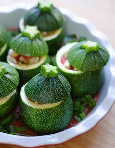Vegetarian Stuffed Zucchini Recipe I don't particularly like zucchini ...