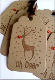 I LOVE these reindeer gift tags, make for this year!
