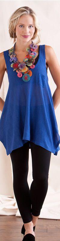 Handkerchief-Hem Tank + Ankle Legging - Outfits - Clothing - Gaiam