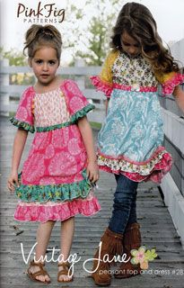 Like this dress pattern for the girls