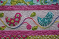 Strippy Applique Spring Quilt | Flickr - Photo Sharing!