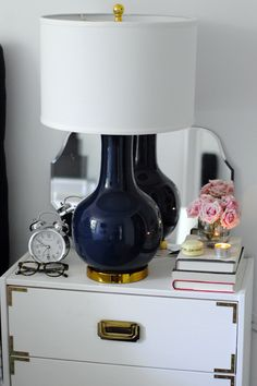 bedside table + accessories