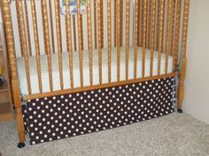 easy crib skirt tutorial..I will do this, so my boys can have matching bed sets..now if only i can find a tutorial for bumpers!