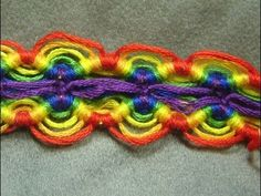 ► Friendship Bracelet Tutorial 3 - Advanced - Divided Peruvian Wave
