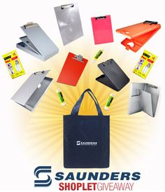 Shoplet.com is giving away a Saunders prize pack to one lucky winner! Here's how to win: Follow Shoplet on Pinterest, repin this post, go to the Shoplet Blog before May 27th and tell us why you want this new notebook! #giveaways