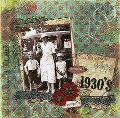 1930's ~ Grungy heritage digi page with a great texturized background.