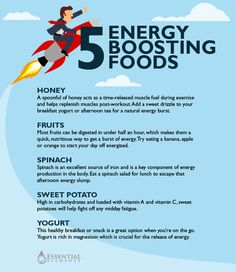 8 Essential Foods For All-Day Energy
