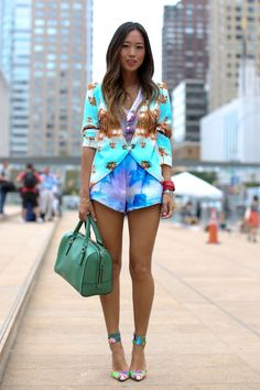 Cute shorts. Prints in street style
