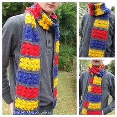 FitzBirch Crafts: Lego Brick Crochet Scarf