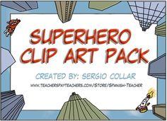 Superhero - clipart pack