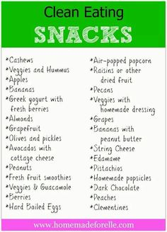 Healthier snack ideas