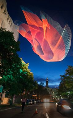 net sculpture by Janet Echelman