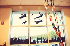 the diy nurse: peter pan party Would love to do the silhouettes on a canvas for Abbey.