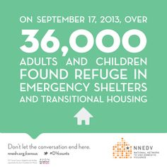 On September 17, 2013, over 36,000 adults & children found refuge in emergency shelters and transitional housing. #DVcounts | design by @Andria Waclawski | DV counts census infographic and briefing supported by the @Avon Foundation